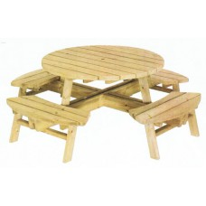 Atholl 8 Seater Round Picnic Bench