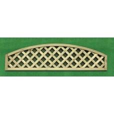Lattice Trellis Convex Top (for 1.8m panels) - 1.8m x 0.3