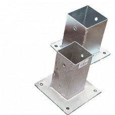 "Post Holder Bolt Down - 3"" x 3"" (Galvanised)"
