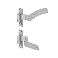 "Curved Rail Hinge Kit - 12"" (GALV) LEFT HAND - pre-pack"