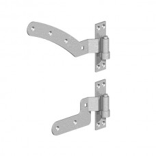 """Curved Rail Hinge Kit - 12"""" (GALV) RIGHT HAND - pre-pack"""