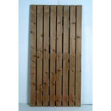 Ledged & Braced Gate (Off Sawn) - Brown - 0.9m x 1.8m